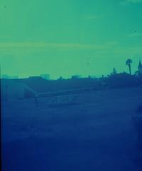 Home Cape Town - Filmor Box Camera (Dan Rutland Manners) Tags: africa camera blue school green 120 film field misty bench southafrica town xprocess cross box capetown creepy horror cape process ghostly murky boxcamera filmor filmorboxcamera