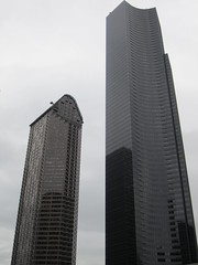 Columbia Center and Seattle Municipal Tower (SounderBruce) Tags: seattlemunicipaltower columbiacenter