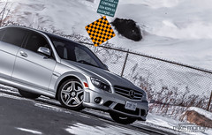 2009 Mercedes Benz C63 AMG (Altered_Image) Tags: silver mercedes benz vinyl wrap satin dtm amg c63 w204 dailydriven