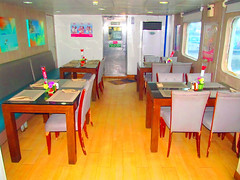 Dining Area (Irvine Kinea) Tags: world voyage travel bridge cruise pope station saint ferry john paul island restaurant cafe stem cabin ramp asia ship fiesta state desk room horizon philippines arcade vessel super front tourist class hallway lobby deck gaming alleyway tatami vip trips hippo mast value suite accommodation tours stern propeller console augustine economy navigation charging rudder nn mega negros ats aft forecastle amenities 2go nenaco