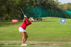 Camilla Lennarth of Sweden on the range during the Pro-Am (Ladies European Tour) Tags: morocco mor rabat lennarthcamillaswe