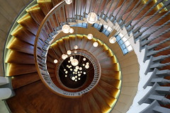 Round and Around (Kieron Adams) Tags: london stairs spiral lights staircase spiralstaircase heals