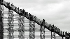 It's a long way down (Eddy Allart) Tags: city urban construction structure explore andamios steigers
