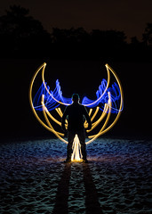 'Icarus' (Jelle Schuurmans) Tags: light silhouette painting wings long exposure icarus