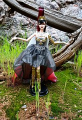 Baby, this is what you came for (ozthegreatandpowerful) Tags: greek gold doll dolls label goddess barbie surreal collection aphrodite athena medusa collector cleopatra