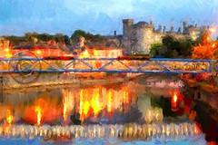 Impressions of Kilkenny castle. (Edward Dullard Photography. Kilkenny, Ireland.) Tags: bridge kilkenny ireland irish reflection night river europa europe nacht photoart leinster kilkennycastle kilkennypeople edwarddullardphotography oldkilkennyphotos oldphotographsofkilkenny oldpicturesofkilkenny cillchainigh picturesofkilkenny