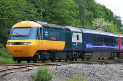 The age of the train..... (stavioni) Tags: city speed train high diesel anniversary great first western sir kenneth grange intercity inter 125 hst livery 43002 253001