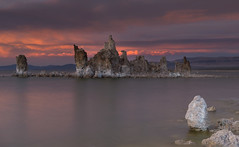 Heaven lent you a soul, Earth will lend a grave... (ferpectshotz) Tags: sunset lake beach highdesert monolake alkaline stormclouds southtufa