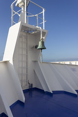 Ships bell (sequentialogic) Tags: ship bow brittanyferries mvbretagne