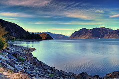 I hear the voice of one calling (Kevin_Jeffries) Tags: lighting new blue autumn light newzealand seascape art nature fishing fisherman pond flickr air natur scenic calm clean clear april idyllic waterscape lakehawea flickrtoday kevinjeffries