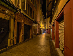 Rue Sainte-Reparate (lncgriffin) Tags: longexposure nightphotography travel france zeiss nice nikon europa europe shops d750 oldtown hdr nizza distagon vieilleville rpubliquefranaise ruesaintereparate distagon2128zf