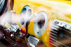 Custom Chevy (mattpete) Tags: hot yellow metal key steering shift gear august led chrome dash rod nights column dashboard speedo custom speedometer stalk shifter gage tach tachometer ignition guage
