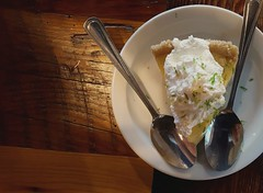 key lime (armykat) Tags: pie dessert restaurant silverware whippedcream spoons flatware keylimepie durhamnorthcarolina sweettreat picinicbbq