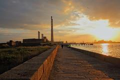 Sunset Over Dublin Bay (Colin Kavanagh) Tags: ireland sunset sea sky dublin port canon walking pier tamron poolbeg 700d