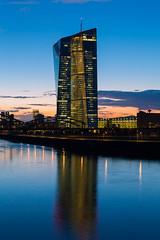 Frankfurt EZB (domarffm) Tags: blue tower river germany hessen frankfurt main ecb ezb europeancentralbank