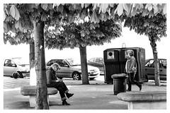 Mots (peterfatson) Tags: street blackandwhite silver noiretblanc pentax grain nik rue banc wr k3 1685 efex