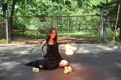 (krustgals) Tags: road black forest fence fire scary candles dress magic ghost spooky dirt trick spook