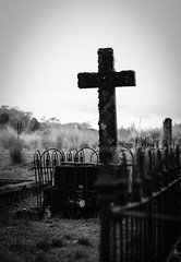 Waratah Cemetery, Tasmania (paulledger81) Tags: tasmania tarkine australia cemetery waratah pioneers grave tombstone cross religion burial gothic macabre