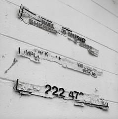 Evidence, Oregon City (austin granger) Tags: music sign time decay parking numbers impermanence scraps evidence remnants clues oregoncity gf670 austingranger