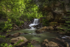 flowing hard by the cliffs (~Fred Wolfe~) Tags: westvirginia waterfalls newrivergorge laurelcreekcottonhill
