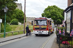 Portchester Fire Brigade (PD3.) Tags: street white castle fun harbour band hampshire lane hart float gala floats fareham portchester hants