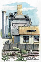 Condat sur Vzre , (Cat Gout) Tags: sketch dordogne prigord watercolors usine