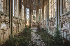 Jungle Church (ProfShot) Tags: old trees roof urban plants green abandoned church window nature forest fence wow painting lost rust decay decoration chapel ceiling haunted altar forbidden hidden forgotten mold dust decor brilliant chapelle decayed urbex kierge