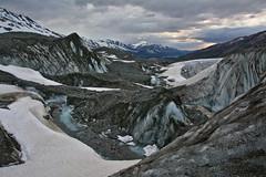 Water, Rock, and Ice (Lee Petersen) Tags: ice water alaska stream hike glacier moraine alaskarange millercreek canwellglacier