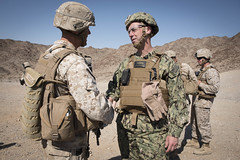 Chief of Naval Operations and Commandant of the Marine Corps Gen. observe Marines and Sailors at Marine Corps Air Ground Combat Center Twentynine Palms. (Official U.S. Navy Imagery) Tags: unitedstates navy calif cno twentyninepalms chiefofnavaloperations admjohnrichardson