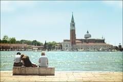 VENEZIA (bert  bakker) Tags: venice people sun church water venezia zon kerk mensen veneti