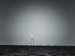 Seaview (MaliaD) Tags: blackandwhite dubai burjalarab
