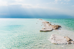 Salty way (Ran Z) Tags: sea beautiful sunrise landscape israel salt sunrays deadsea nikond800e ranzisovitch