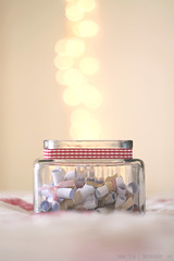 [150/366] Paper hearts (Anna Jlia | Photography) Tags: love project lights photo day photos bokeh year memories jar 366