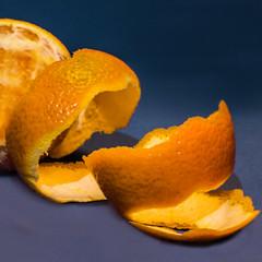 Citrus...  16/365 (+Pattycake+) Tags: stilllife tabletop blue macro closeup indoor peel sky fruit eos70d juice orange pith food citrus fresh peeled eat healthy vitaminc