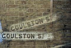 Goulston Street Sign (Multiple Exposure) (goodfella2459) Tags: street abstract colour london film sign analog 35mm nikon exposure experimental slide multiple fujifilm whitechapel provia milf e6 f4 100f goulston