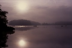 A Race To Catch Fish (Marcelino Akemann) Tags: fog morningmist nikonfa clearingstorm transparencyfilm