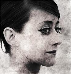 Lady of silences (Philip L Hinton A.R.P.S.) Tags: portrait woman mono nikon mystique textured musicmatch