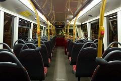 Route N26 - 2505 CT Plus - Enviro 400 City (2) (LFaurePhotos) Tags: bus london night interior trafalgarsquare charingcross upperdeck upholstery moquette centrallondon 2505 ctplus routen26 sn16ohu