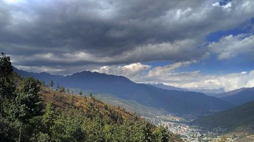 Thimphu view from Budha Park