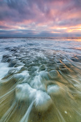 La Jolla Beach (JBMarro) Tags: ocean california sunset sky sun seascape beach water landscape la movement san rocks colorful waves pacific diego jolla