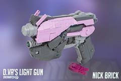 D.Va's Light Gun - Overwatch (Nick Brick) Tags: life light gun shoot lego 11 size pistol laser blizzard mech lightgun sidearm dva overwatch nickbrick