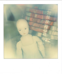 doll baby...she lives in one of the parts jars (bunchadogs & susan) Tags: doll experimentation sooc fortunacalifornia impossibleprojectitypecolorfilm polaroidi1