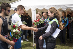 Flowers for Via Dinarica team (ViaDinarica) Tags: people food usaid nature landscape locals hiking ceremony runners awards mountainbiking whitetrail undp bosniaandherzegovina wildnature blidinje blidinjelake viadinarica connectingnaturally terradinarica