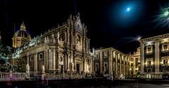 Piazza del Duomo (Explored 18-6-2016) (mcalma68) Tags: night del cityscape cathedral sicily piazza duomo sant catania agatha
