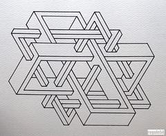 201611 (regolo54) Tags: triangle pattern handmade geometry symmetry handpaint escher isometric impossible mcescher penrosetriangle artempire triangleimpossible artistsharing regolo54 oscarreutersward