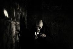 Doel_Meltdown (dannyvdgriend) Tags: white black mask belgium gasmask concept conceptual drama meltdown core doel