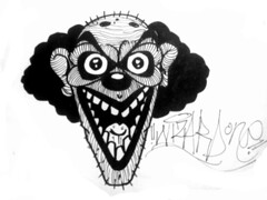 graffiti sticker clown (marcomacedo3) Tags: cholowiz graffiti sticker nazer26 mtsk paste stamp slaps collabs spraycan trade