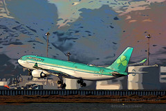 Airbus A330-202, Aer Lingus, Takeoff (Vern Krutein) Tags: california travel usa history airplane commerce technology sfo aircraft transport archive airbus infrastructure fleet airlines shamrock ein aerlingus a330 mella avion aerospace widebody jetliner sanfranciscointernationalairport airframe passengerplane commercialaviation cloverleaf multiengine turbofan twinaisle cf6 eilax stmella widebodyjet airbusa330202 cf680e1a4 fixedwingmultiengine aerlingusirishinternational civiltransportation fixedwingairliner a330200series tafd03263