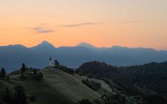Nature awakening (Dejan Hudoletnjak) Tags: morning orange mountain church nature sunrise landscape awakening slovenia beforesunrise jamnik onebeautifulmorningofnatureonjamnik