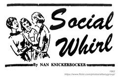1962 social whirl nan knickerbocker (albany group archive) Tags: ny social albany column nan 1962 knickerbocker whirl